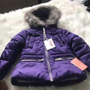 JESSICA SIMPSON girls puffy winter coat. 2T.